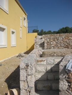 Stone walls and steps