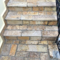 Square cut stones on steps