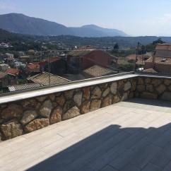 Stone clad balcony